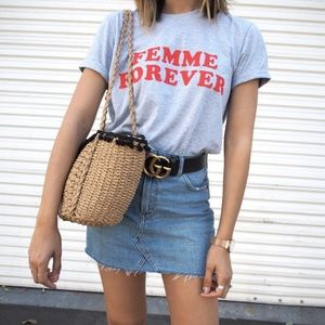 TOPSHOP Femme Forever Grey Graphic Tee